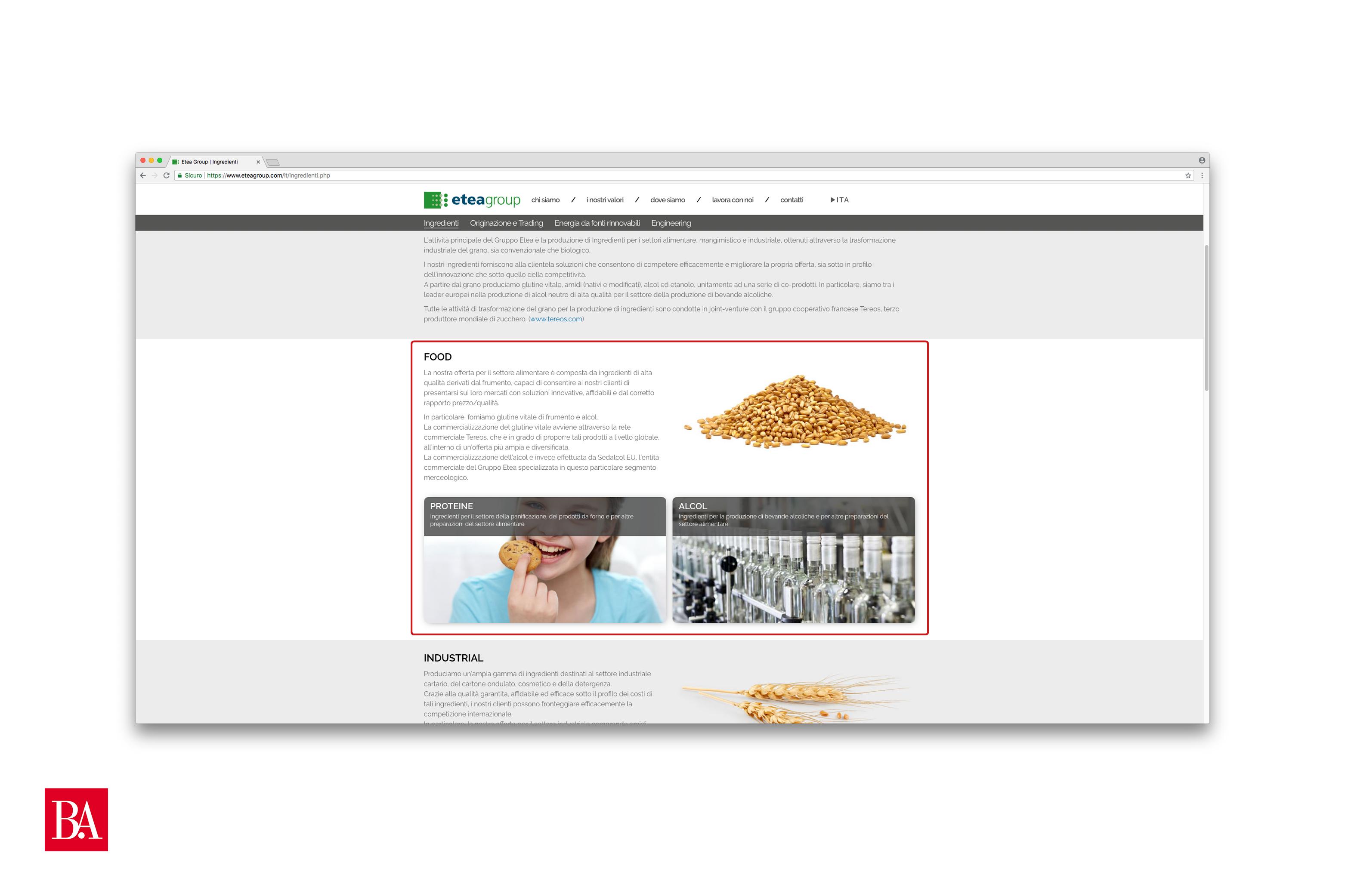 Realizzare sito - Struttura menù